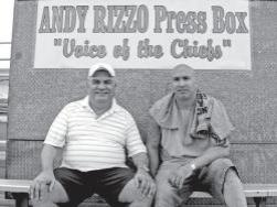 Andy Rizzo pictured with son Joe, who is also known as DJ Riz, a renowned DJ.