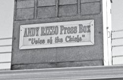 Andy Rizzo Press Box at Canarsie High School in Brooklyn.