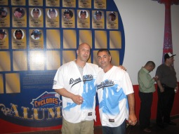 DJ Riz with former Met Great and Brooklynite John Franco