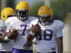 LSU football players wear the Vector Mouthguard.