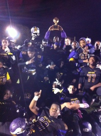 South Shore hoists  neighborhood bragging rights trophy after dismantling the Chiefs, 25-0, Friday night at home