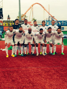 The New York Cosmos Saturday before their semifinals match against the Fort Lauderdale Strikers at MCP  Park in Coney Island Brooklyn.