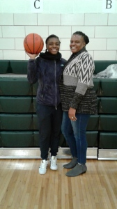 Kayla Bridge and her Mom Yvonne are all smiles a day before the PSAL season begins for Lady Gators.