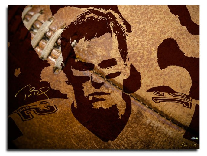 1. bernard_solco_tom_brady_patriot_warrior_print_football_brown