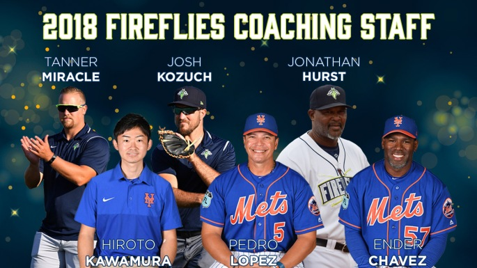 2018 Columbia Fireflies Coaching Staff